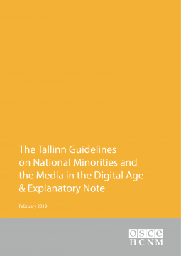 OSCE-HCNM issues Guidelines on National Minorities and the Media in